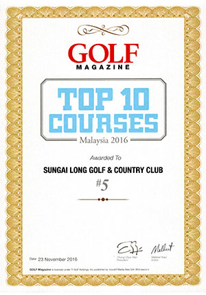TOP 10 GOLF COURSES MALAYSIA 2016 @ 5 th place